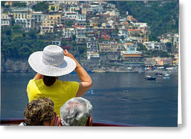 Cruising The Amalfi Coast Greeting Card by Keith Armstrong