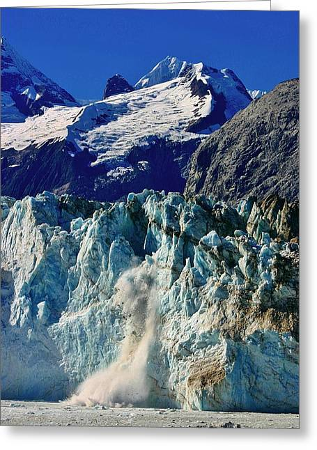 Greeting Card featuring the photograph Crumbling Glacier by Henry Kowalski