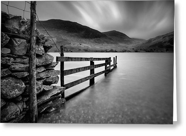 Crummock Water Greeting Card by Dave Bowman