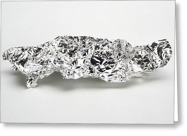 Crumpled Aluminium Foil Greeting Card