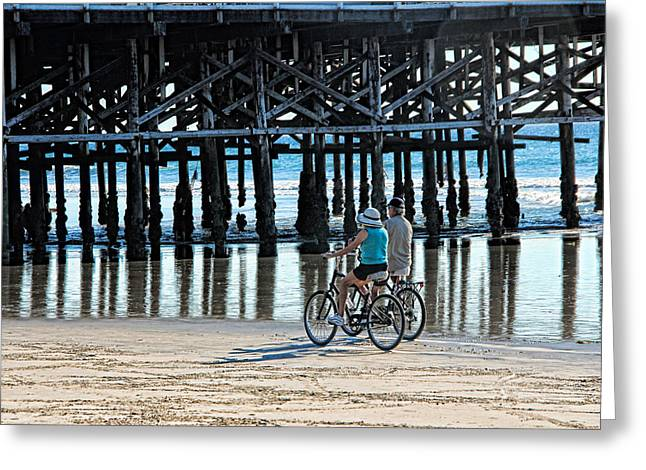 Crusin The Beach Greeting Card by Tammy Espino