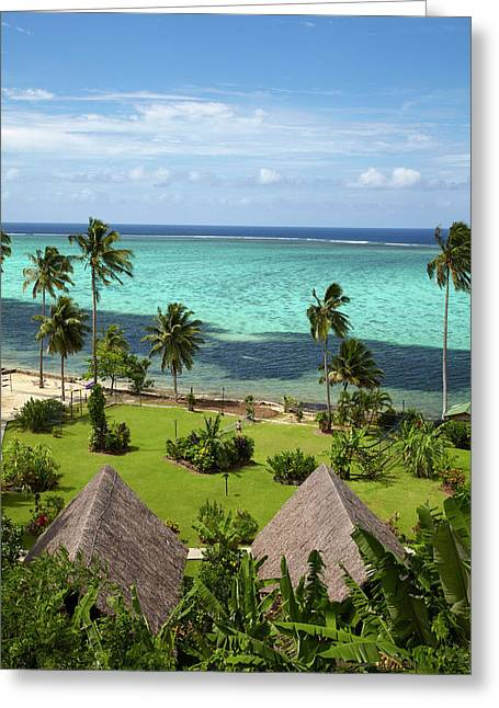 Crusoe's Retreat And Coral Reef, Coral Greeting Card