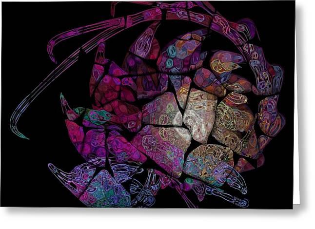 Crustacean Greeting Card by Amanda Moore
