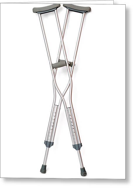 Crutches Greeting Card by Daniel Sambraus
