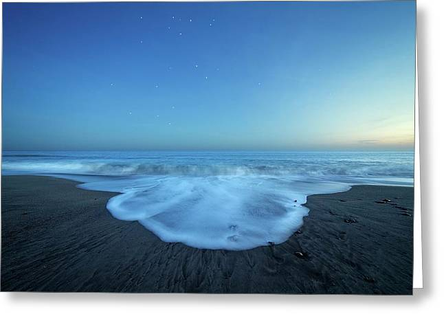 Crux Constellation Over Coastal Waters Greeting Card