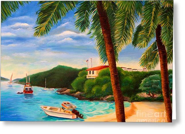 Cruzin' In The Bay Greeting Card by Shelia Kempf