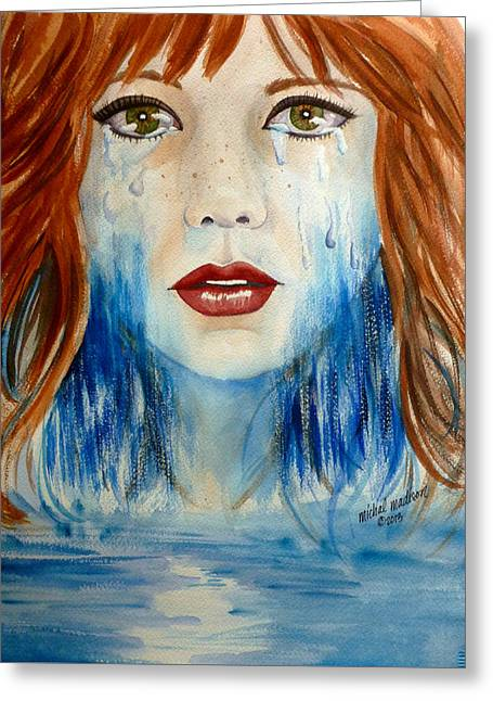 Crying A River Greeting Card