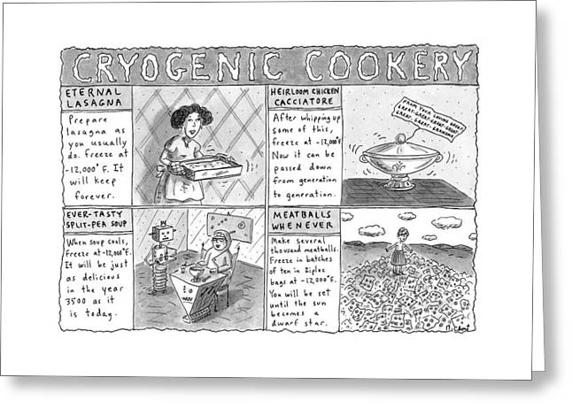 Cryogenic Cookery Greeting Card