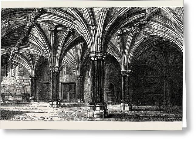 Crypt Of The Guildhall London Uk Greeting Card