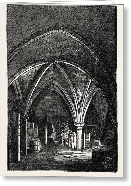 Crypt Under Gerards Hall, Basing Lane Greeting Card