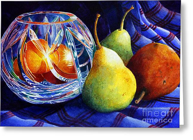 Crystal And Pears Greeting Card