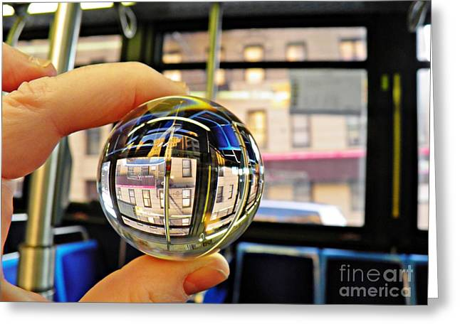 Crystal Ball Project 64 Greeting Card by Sarah Loft