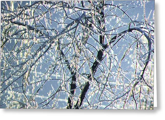 Crystal Beads Greeting Card by Kathleen Struckle