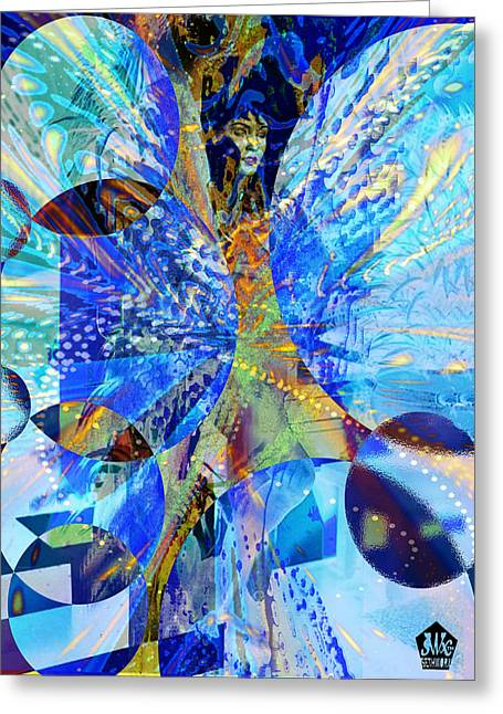 Crystal Blue Persuasion Greeting Card by Seth Weaver