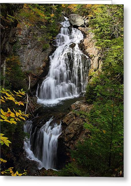 Crystal Cascade Greeting Card by Mike Farslow