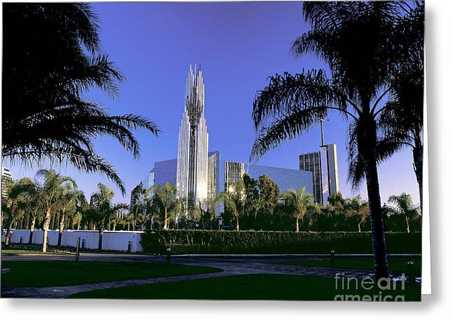 Crystal Cathedral Greeting Card by Jim Corwin