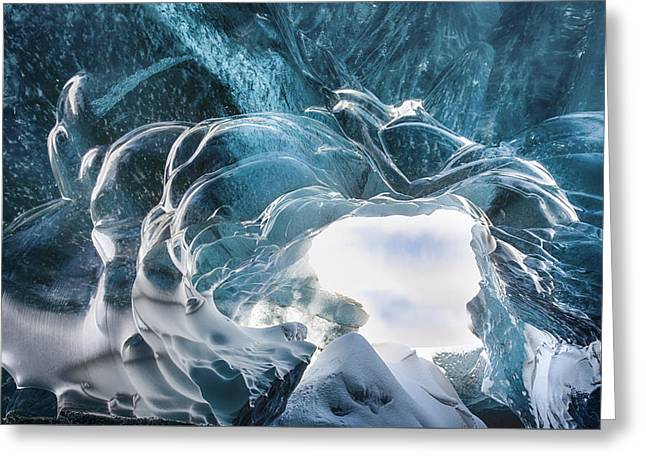Crystal Cave Greeting Card by Timm Chapman