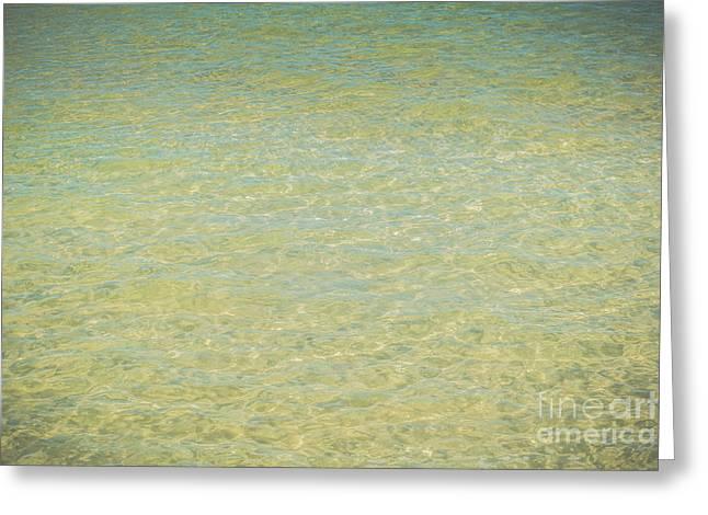 Crystal Clear Atlantic Ocean 2 Key West - Hdr Style Greeting Card