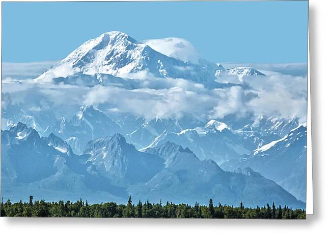 Crystal Clear Mt. Mckinley Greeting Card