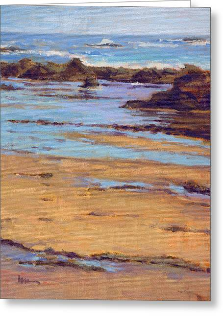 Greeting Card featuring the painting Crystal Cove by Konnie Kim