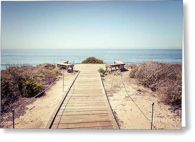 Crystal Cove Overlook Retro Picture Greeting Card