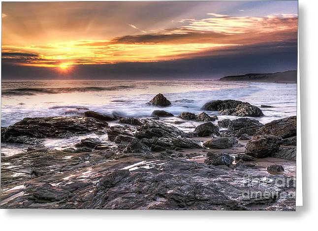 Crystal Cove State Park Greeting Card by Eddie Yerkish