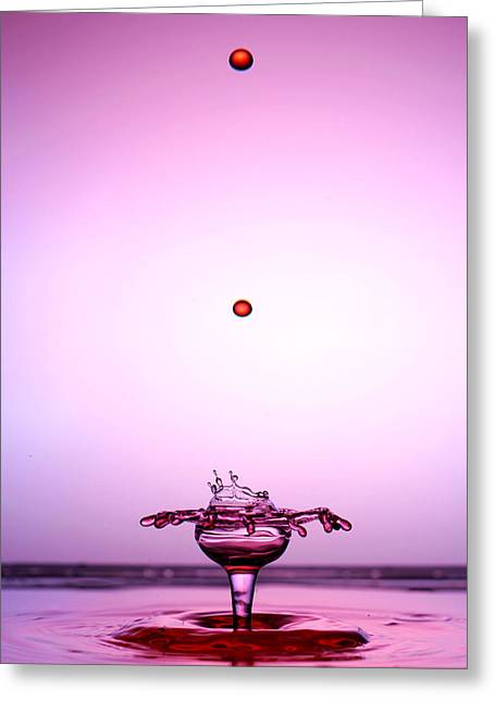 Crystal Cup Water Droplets Collision Liquid Art 2 Greeting Card