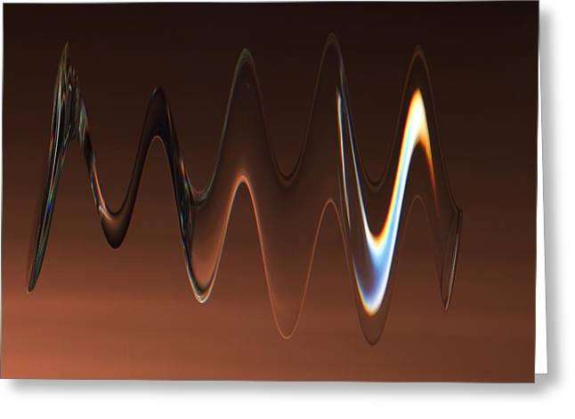 Greeting Card featuring the photograph Crystal Flux by Dennis Lundell