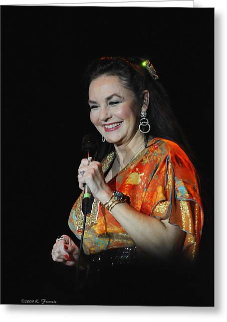 Crystal Gayle Greeting Card by Kenny Francis