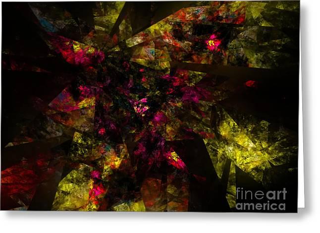 Greeting Card featuring the digital art Crystal Inspiration #1 by Olga Hamilton