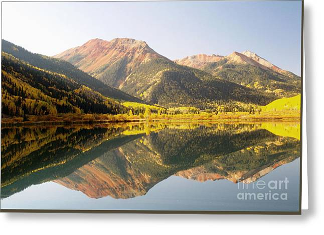 Crystal Lake And Red Mountain Greeting Card by Alex Cassels