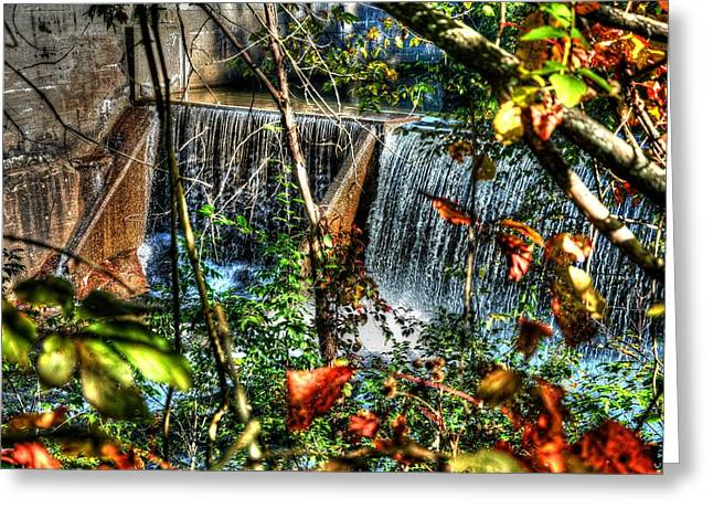 Crystal Lake Falls Greeting Card by John Nielsen