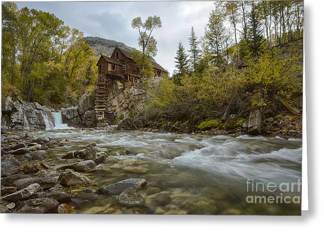 Crystal Mill Greeting Card by Idaho Scenic Images Linda Lantzy