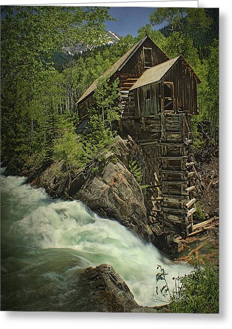 Crystal Mill Greeting Card by Priscilla Burgers