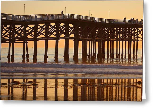 Greeting Card featuring the photograph Crystal Pier by Nathan Rupert