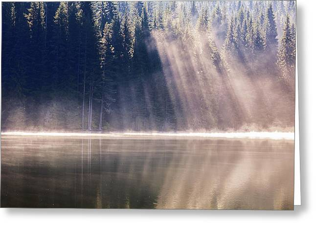 Crystal Rays Greeting Card by Evgeni Dinev