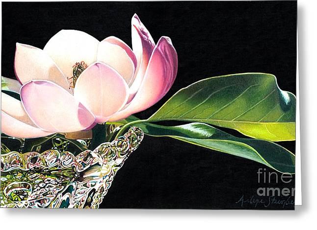 Crystal Rhythms Greeting Card by Arlene Steinberg
