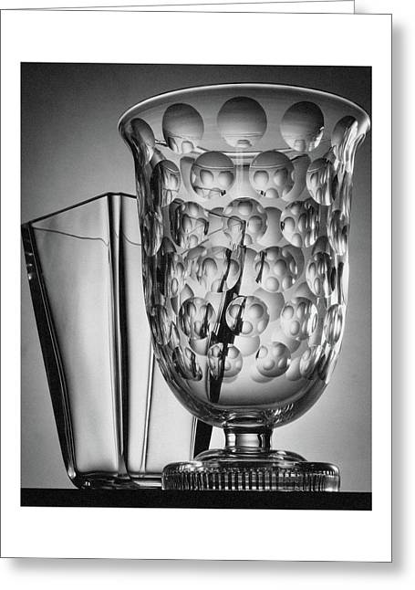 Crystal Vases From Steuben Greeting Card