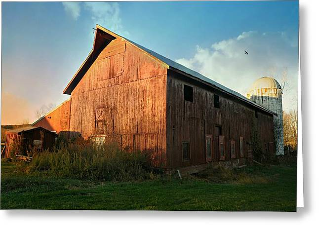 Crystal Waters Farm Greeting Card by Diana Angstadt