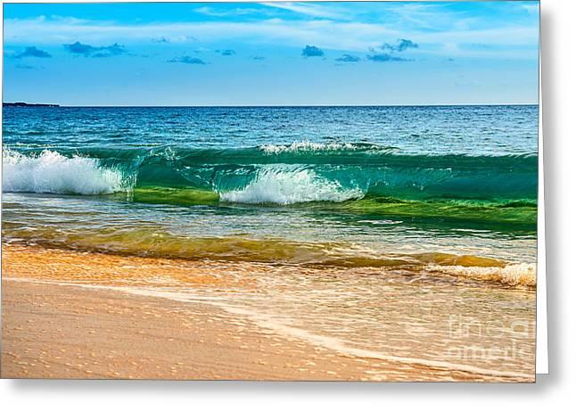 Crystal Wave Greeting Card by Jamie Pham