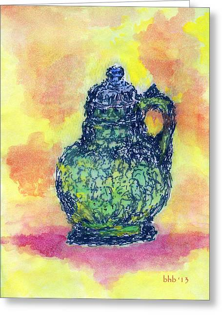 Crystalline Chartreuse Greeting Card by Bruce Blanchard