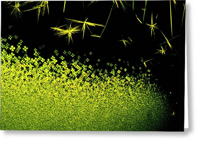 Crystals Of Antibiotic Tetracycline Greeting Card by David Parker