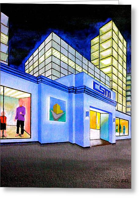 Csm Mall Greeting Card by Cyril Maza