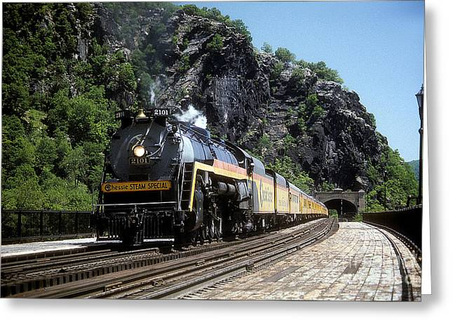 Chessie Steam Special At Harpers Ferry Greeting Card by ELDavis Photography