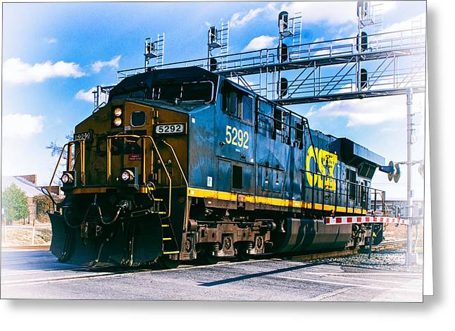 Csx 5292 Warner Street Crossing Greeting Card