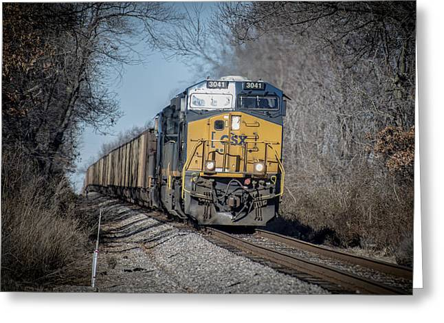 Csx T108 On Morganfield Branch Madisonville Ky Greeting Card