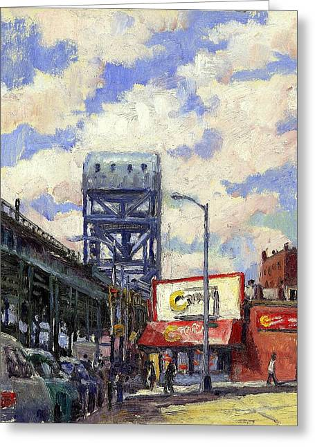 Ctown And The Broadway Bridge The Bronx Greeting Card by Thor Wickstrom