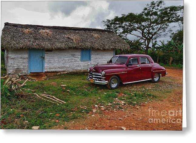 Greeting Card featuring the photograph Cuba Cars 3 by Juergen Klust