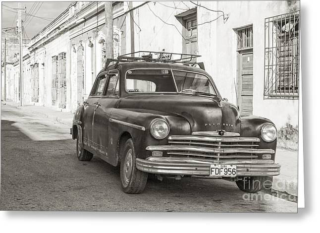 Greeting Card featuring the photograph Cuba Cars I by Juergen Klust