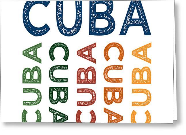 Cuba Cute Colorful Greeting Card